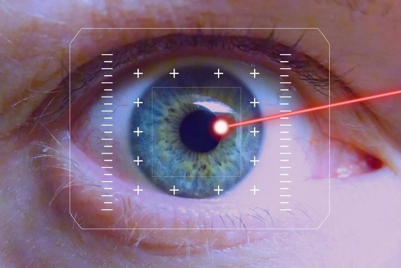 laser op augen